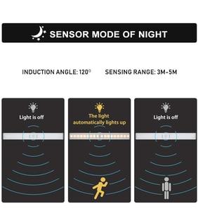 Image 4 - Lâmpada led com sensor de movimento pir, luz de baixo de armário, 6/10/20leds, para guarda roupa, armário luz noturna da cozinha