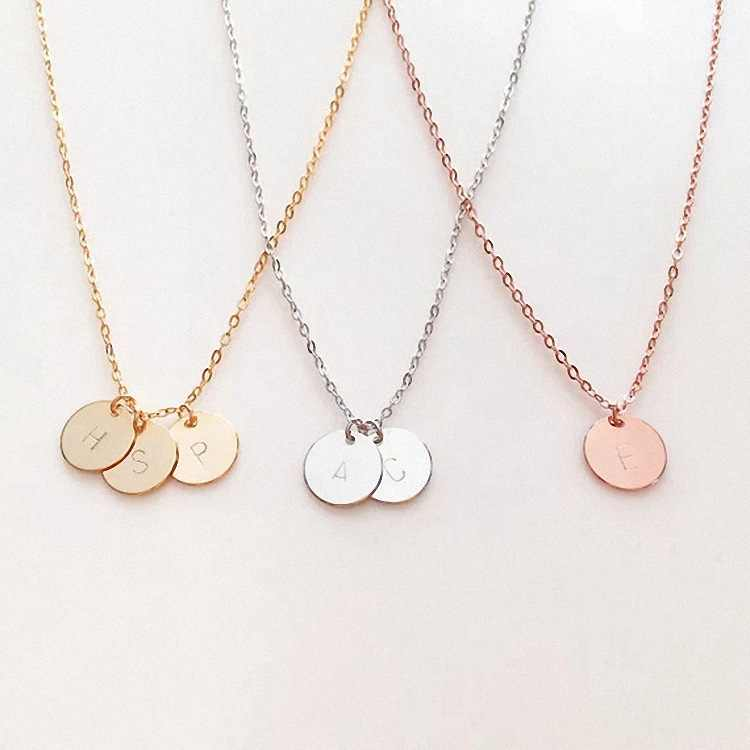 1pc Pendant Necklace Party Favors Gift for Girlfriend Initial Letter Valentines Day Presents Bridesmaid Gift Wedding Souvenir