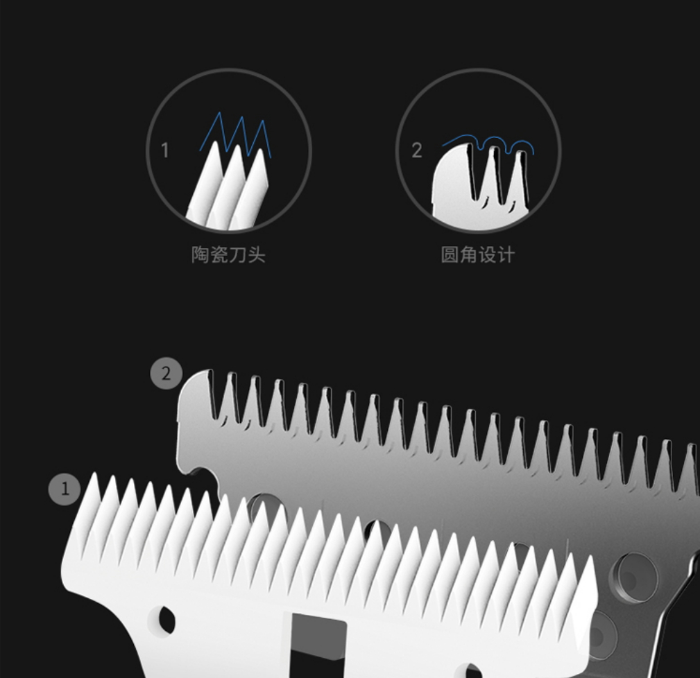 Image 5 - Xiaomi SMATE Baby Electric Hair Trimmer USB Waterproof Haircut Trimmer Rechargeable Ultra Quiet Automatic Hair Clipper for Child-in Electric Shavers from Home Appliances