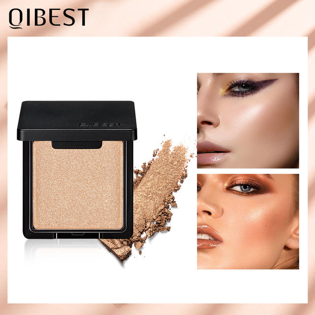 QIBEST Highlighter Bronzer Palette Face Makeup Contour Glow Long Lasting Shimmer Illuminator Highlighter Powder Shining Cosmetic 1