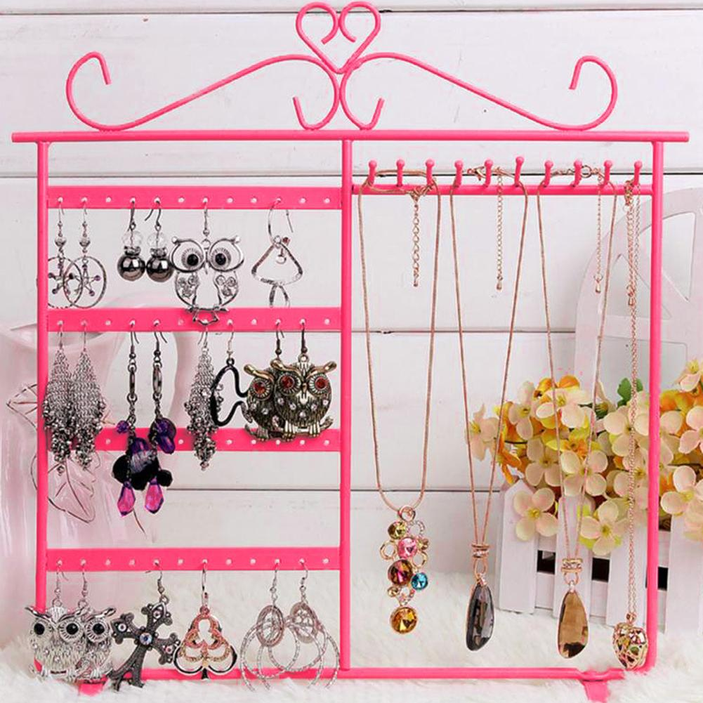 Fashion Jewelry Rack Display Storage Hanging Holder Earring Necklaces Organizer