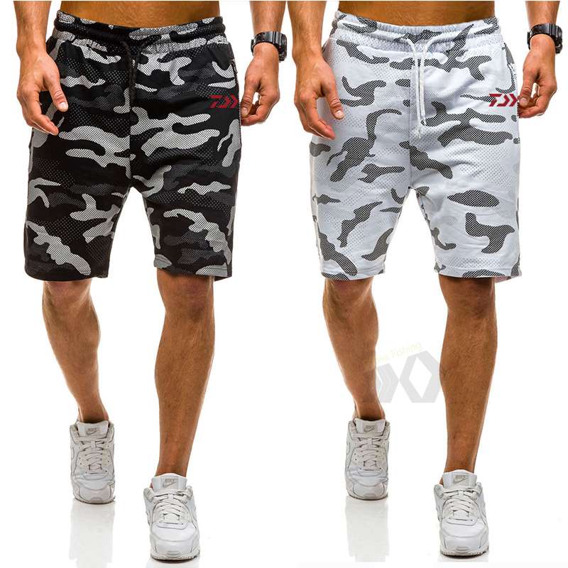 Daiwa Camouflage Fishing Pants Summer Outdoor Short Pants Men CasualQuick Dry Breathable Fishing Shorts Sports Fishing Clothin