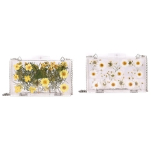 Women Evening Bags Flower Wedding Party Pearl Flower Bride Handbag Crossbody Clear Hard Box Clutch Transparent Chain Bag цена 2017