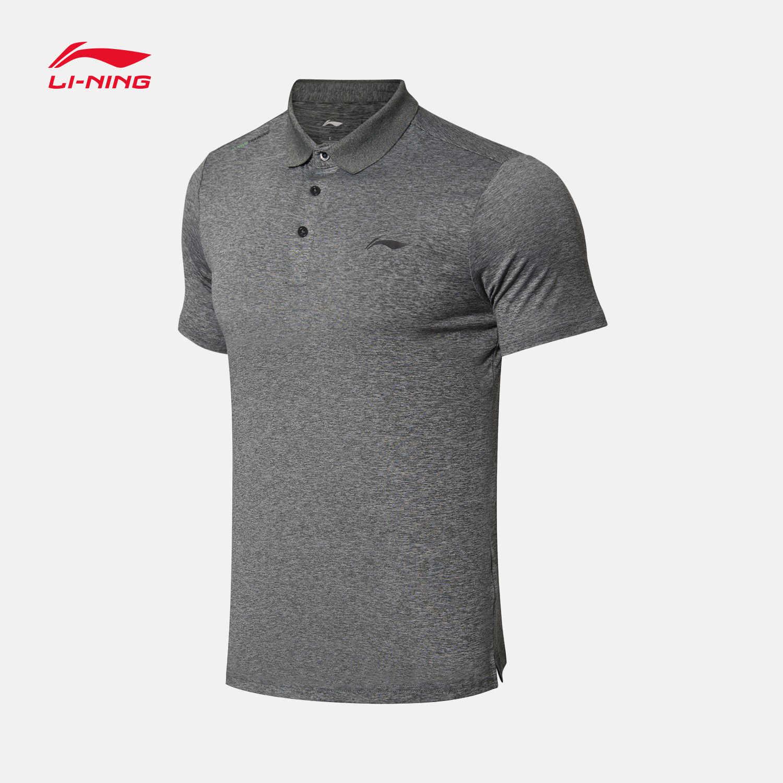 Li-Ning Mannen Polo Shirt Op Droog Smart Fitness Mannelijke Running Outdoor Sport Jogging Voering Li Ning Sport T-shirts APLN237