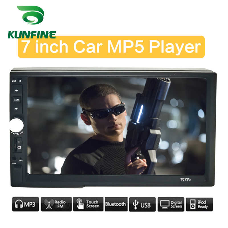 """KUNFINE uniwersalny 2 Din 7 """"ekran dotykowy samochodowy odtwarzacz multimedialny samochód Radio samochodowe Stereo MP5 MP3 odtwarzacz z Bluetooth FM /USB/AUX"""