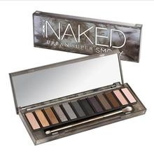 12 Color Shimmer Glitter Eye Shadow Powder Matt Eyeshadow blush palette Cosmetic Makeup brochas maquillaje with brush