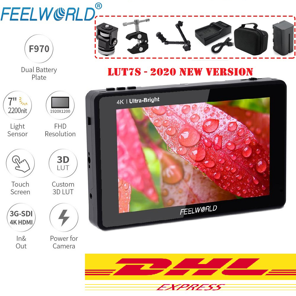 [해외] FEELWORLD LUT7S 7 인치 2200nits 3D LUT 터치 스크린 DSLR 카메라 필드 모니터 (파형 벡터 스코프 포함)