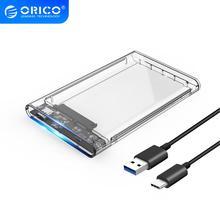 ORICO carcasa de disco duro tipo C 2139C3 UASP 2,5 pulgadas, carcasa de disco duro USB 3,1 transparente, compatible con protocolo UASPhard drive enclosuredrive enclosure2.5 inch