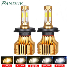 PANDUK faro LED para coche, 16000LM, 4300K, 6000K, 9005 H1, 880 H4, Led H3, H7, LED H11, 3000K, 9006 HB3, HB4, Bombilla Super brillante luz del coche, 12V
