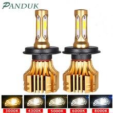 PANDUK Đèn Pha LED 16000LM 4300K 6000K 9005 H1 880 H4 Led H3 H7 LED H11 Đèn Led 3000K 9006 HB3 HB4 Bóng Đèn Siêu Sáng Xe Ô Tô 12V