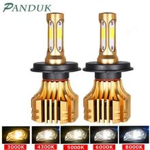 Panduk ledヘッドライト16000LM 4300 18k 6000 18k 9005 H1 880 H4 led H3 H7 led H11 led 3000 18k 9006 HB3 HB4電球超高輝度車のライト12v