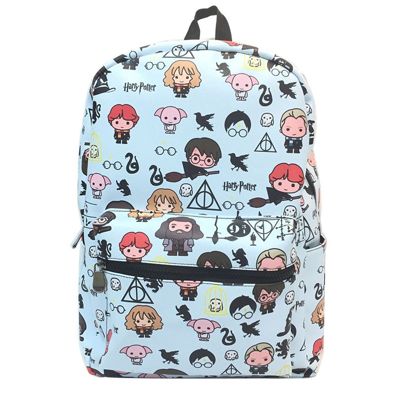 Anime Peripheral Cute Harry Potter Shoulder Backpack Cute Indie-Style PU Leather School Bag