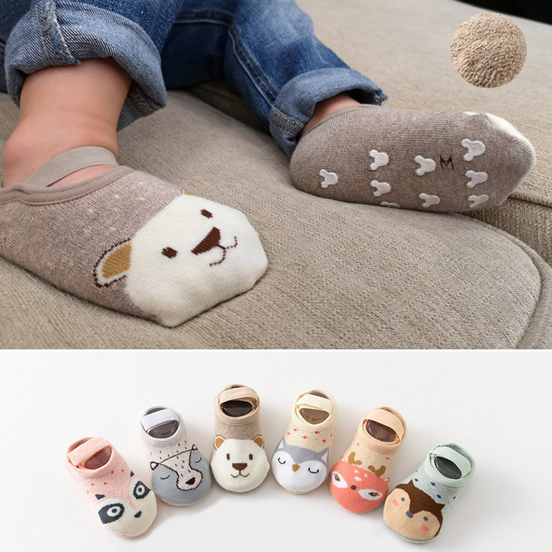 0-12 Months Anti Slip Baby Shoes Cartoon Animal Soft Bottom Rubber Sole Toddler Shoes First Walkers Baby Girl Shoes Girls Socks