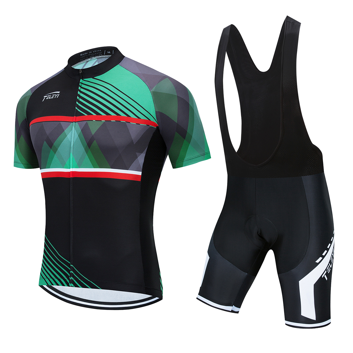 Bisiklet forması TELEYI Maillot Ropa Ciclismo Hombre takım bisiklet giyim çabuk kuru kısa kollu seti MTB bisiklet kıyafetleri 5D GLE