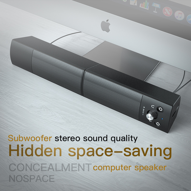 Computer Speakers Detachable Bluetooth Speaker Bar Surround Sound Subwoofer For Computer PC Laptop USB Wired Dual Music Player 5