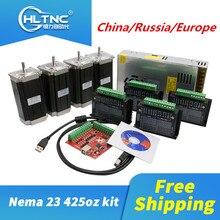 CNC kit 4 pcs TB6600 driver + 4 pcs Nema23 425 Ozin motore di cc + 1set MACH3 motion carta + 1pcs 350W 36V di alimentazione per CNC parte