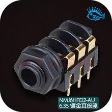 1 pçs/5 pçs suíça neutrik NMJ6HFD2 AU 6.35mm banhado a ouro fone de ouvido amp pcb placa de solda soquete
