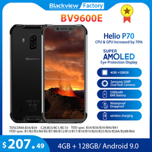 Blackview BV9600E 4GB 128GB IP68 Smartphone robuste 6.21 FHD + AMOLED Android 9.0 Global 16MP P70 AI Octa Core téléphone portable