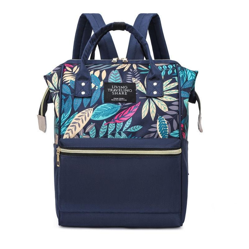 Nylon Women School Bags Ladies Shoulder Backpacks Large Capacity Mommy Baby Nursing Bags Fashion Female Business Laptop Backpack