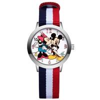 Kinder Niedliche Cartoon-Stil Uhr Student Junge Mädchen Leder Nylon Stahlband Quarz Handgelenk Uhren JA12