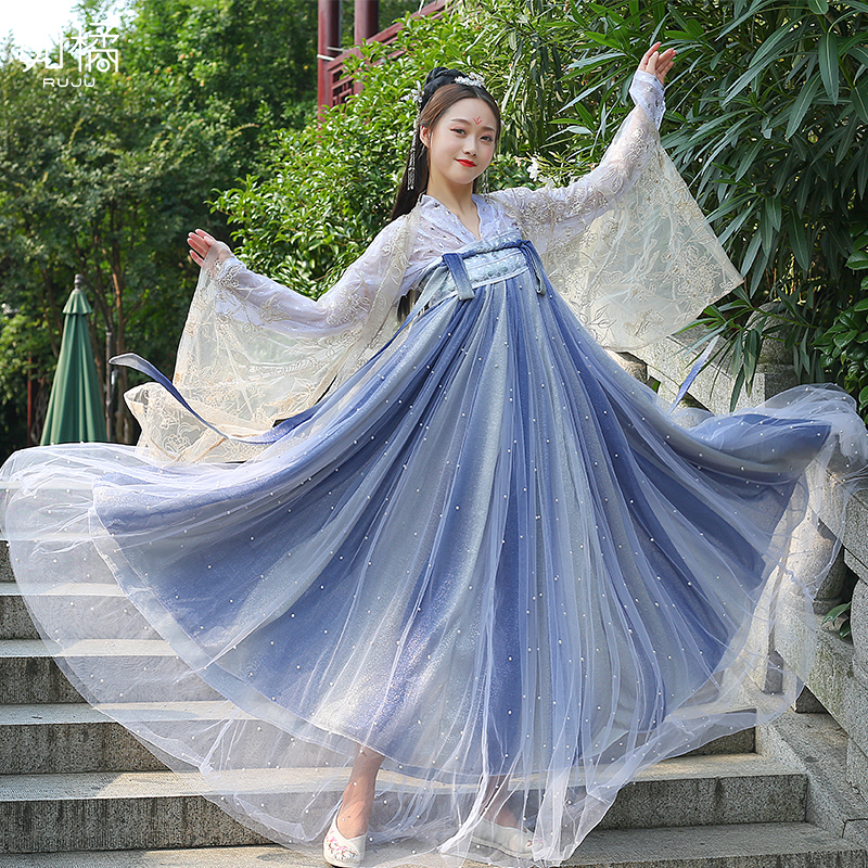 Women Hanfu Traditional Ancient Chinese Tang Dynasty Costume Female Halloween Cosplay Costume Outfit Women Fairy Dress DL4452