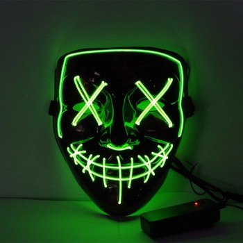 Halloween LED Mask Light Up Party Masks The Purge Election Year Great Funny Festival Cosplay Party Masks Glow In Dark image