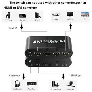 Image 5 - HDMI אודיו Extractor ממיר 5.1CH/ 2CH אודיו ספליטר 4k סטריאו אנלוגי HDMI כדי HDMI אופטי SPDIF מתאם ממירי