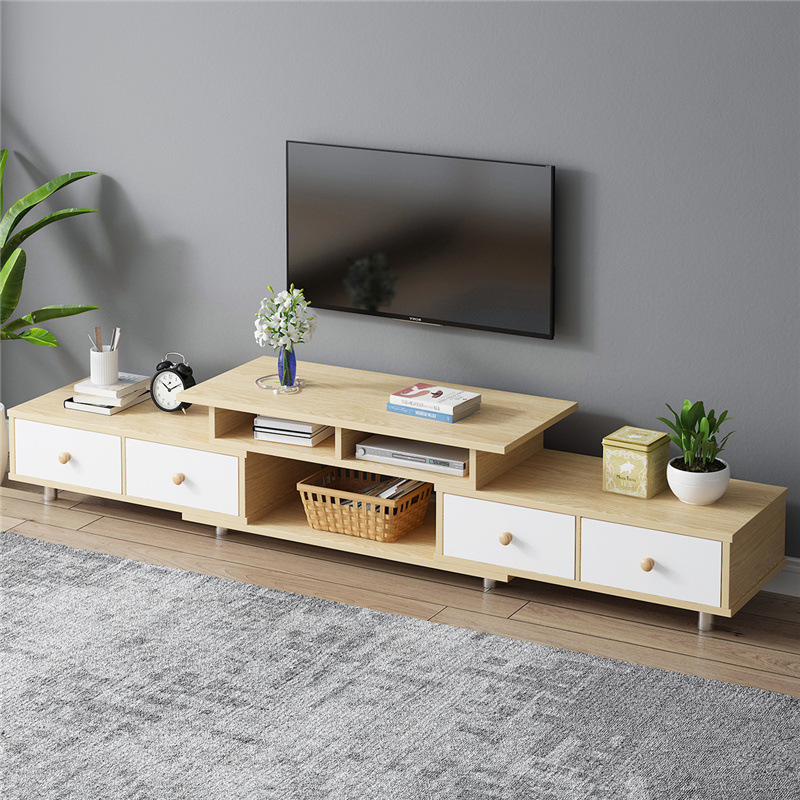 On Behalf Of TV Cabinet Furniture Packaged Combination Modern Minimalist Retractable Living Room Bedroom Northern European-Style