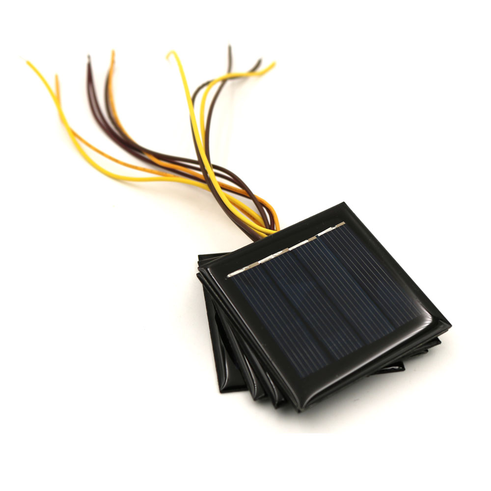 5pcs X2V 100mA Solar Panel With 15cm Extend Wire Mini Solar Battery Cell Phone Charger Portable DIY Polycrystalline Solar Cell
