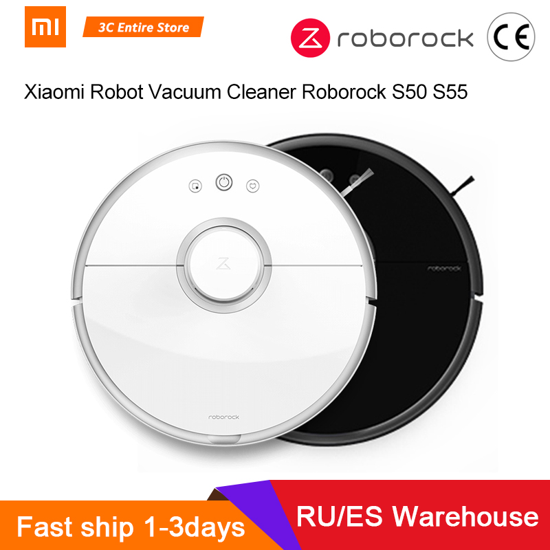 <font><b>Roborock</b></font> <font><b>S50</b></font> S55 <font><b>Xiaomi</b></font> Vacuum Cleaner <font><b>2</b></font> Mi Robot for Home Sweeping Wet Mopping Robotic Dust Cleaner Smart Wireless APP Control image