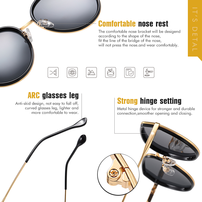 Купить брендовые круглые солнцезащитные очки lioumo для женщин 2020