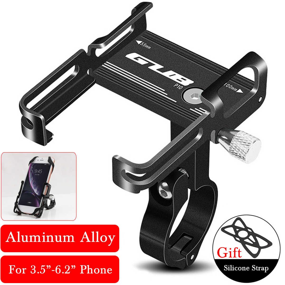 Универсальный алюминиевый держатель для телефона на велосипед, велосипед, держатель для телефона, подставка, противоскользящий зажим на руль мотоцикла для телефона 3,5-7,5 дюйма