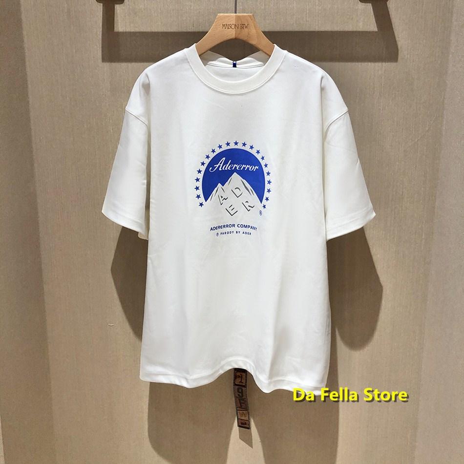 Adererror T-shirt Adererror Tee 2020 Company Logo Print Ader T-shirts High Quality Version Oversize Ader Error Tops Men Women