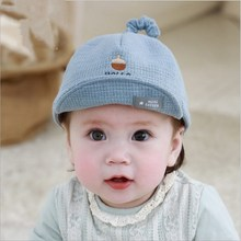 Cute Autumn Winter Baby Unisex Outdoor Warm Hat Lovely Tail Letter Print Hats for Boy Girl Cotton Soft Comfortable Kid