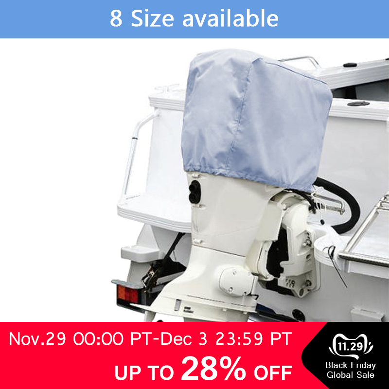 Universal Splashproof Boat Yacht Outboard Engine Motor Cover For 30-90 HP