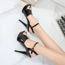 YEELOCA Womens High Heels Sandals 13cm Sexy Stripper Party Pumps Shoes Women Gladiator Platform Candy Color Sandals Size 34-43