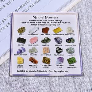 20 штук нерегулярных акробатических мини минеральных камней коллекция искусства украшения набор подарок и кристалл натуральный камень