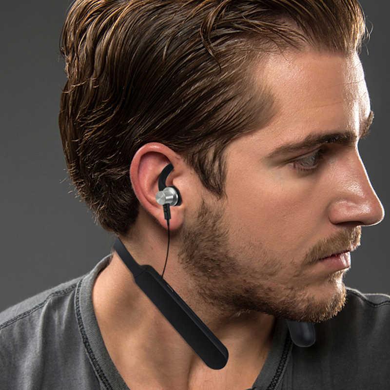 2019 nowy bluetooth douszny Sport Stereo magnetyczne słuchawki bluetooth z mikrofonem z pałąkiem na kark bezprzewodowe słuchawki do telefonu iPhone HUAWEI