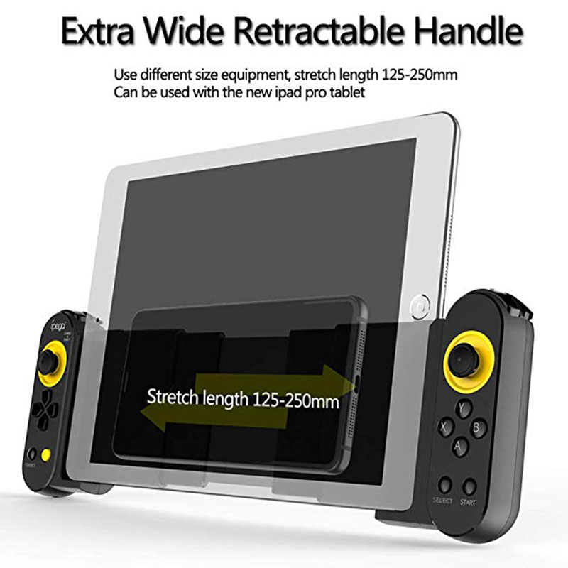 Portable Stretch Mobile Game Controller Wireless Bluetooth 4.0 Gamepad Joystick for PUBG IOS/Android Smartphone Ipad Tablet PC image