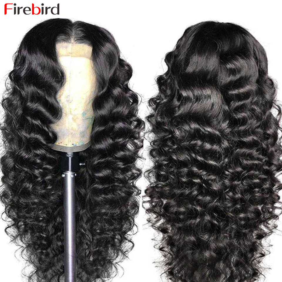 30 Polegada malaio solto onda profunda peruca solta onda profunda fechamento do laço peruca de cabelo humano para as mulheres negras pré arrancadas nós descorados peruca