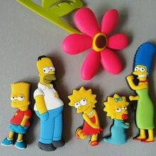 Homer Simpson imán creativo para el refrigerador, calcomanía decorativa de educación temprana para refrigerador, decoración del hogar
