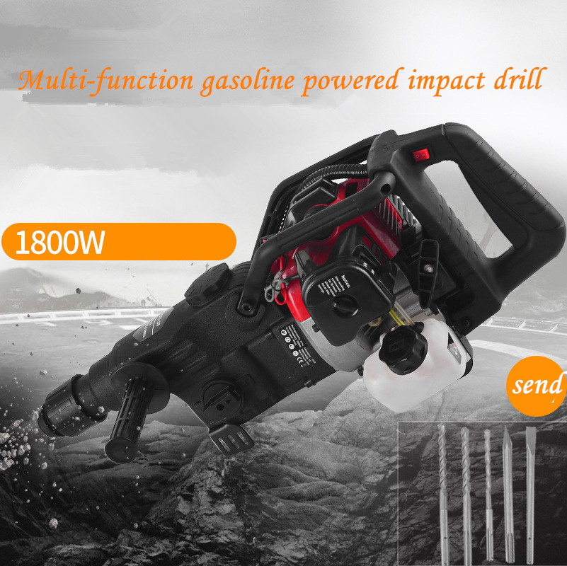 58/100 Multi-function Gasoline Power Impact Hammer  Gasoline Broken  Drilling Machine Dual-use