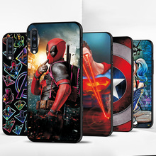Black TPU For Samsung Galaxy A50 Case Cartoon Cover Cases For Samsung