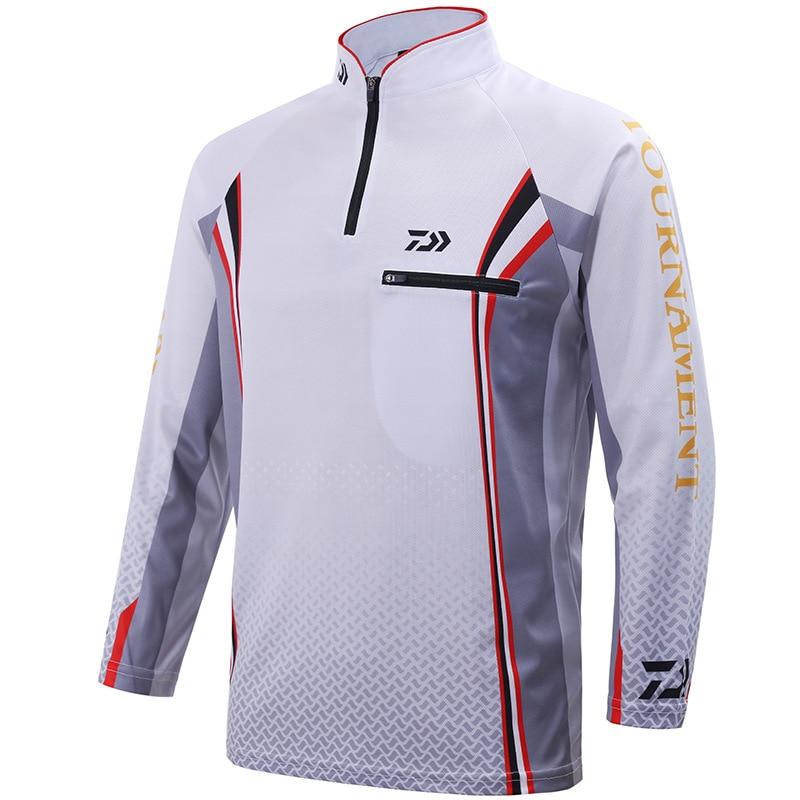 Mens Fishing Clothes Jersey Long Sleeve Shirt Tournament Camping Coat UV Block