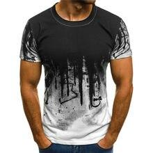 T-shirt imprimé à l'encre 3D pour hommes, T-shirt décontracté à manches courtes, T-shirt à manches courtes, vêtements officiels, collection 2021 T-shirt taille asiatique xxs