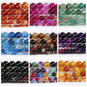 Natural Stone Green Purple Peacock Blue Zircon Stripe Onyx Agates Round Loose Beads 4 6 8 10 12MM Pick Size For Jewelry Making