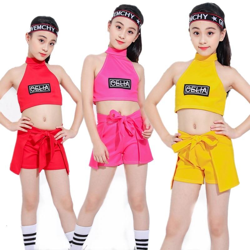 Songyuexia 2019 New Children Show Clothing Performance Hiphop Jazz Street Dance Practice Dancewear Girl Stage Dancewear