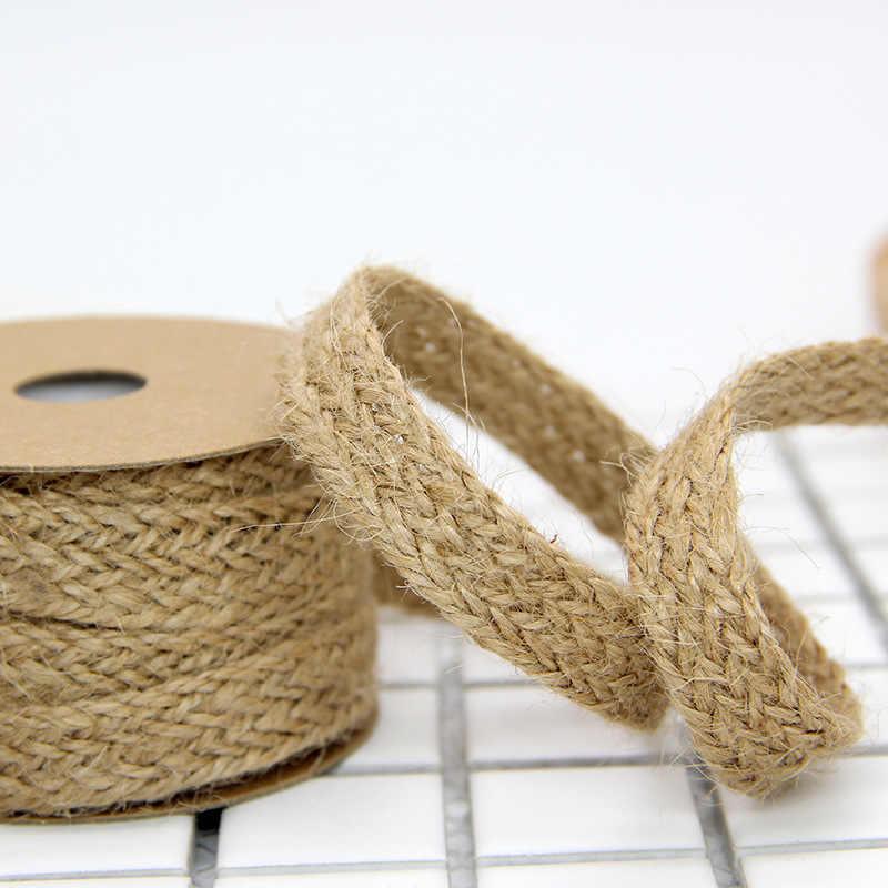 Mufee 0,5 x 10 m decoraci/ón de boda Rollo de cinta de yute para manualidades