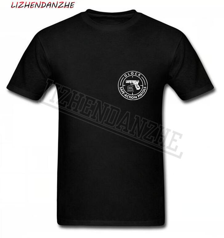 MNE T SHIRT GLOCK SAFE-ACTION PISTOLS HIGH-QUALITY SHIRT SHIORT SLEEVE BRAND T-SHIRT 0275