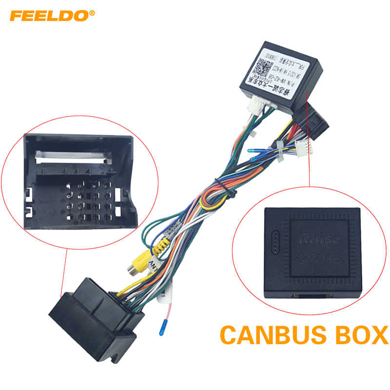 FEELDO Android Car Media Player Navi Radio CANBUS BOX Wire ... on vw fog lights harness, vw passat stereo install, vw compass wiring harness, vw engine wiring harness,